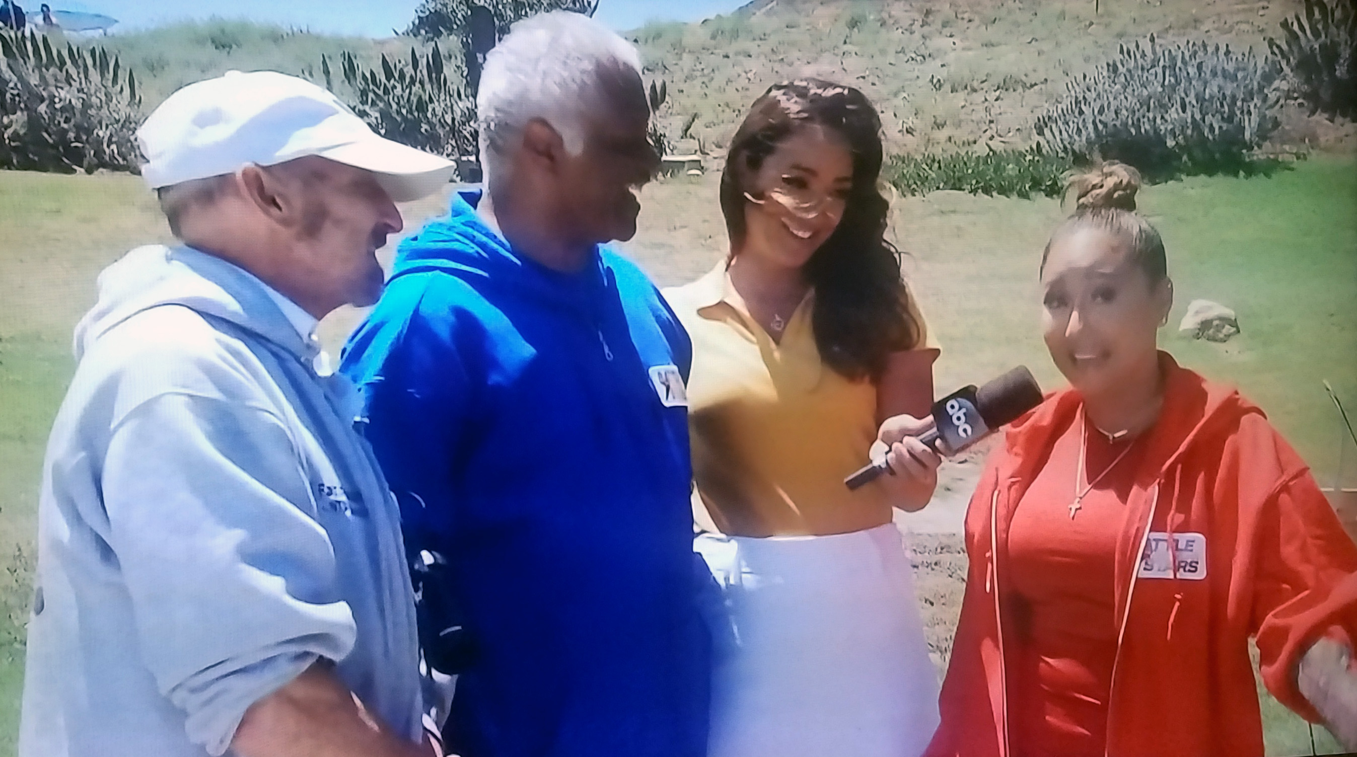 On ABC –TV's Battle of the Network Stars with Love Boat's Ted Lange -whom Paul coached to victory - along with interviewer Cassidy Hubbarth and Adrienne Houghton (of Cheetah Girls).  Aired on Thursday, August 24, 2017