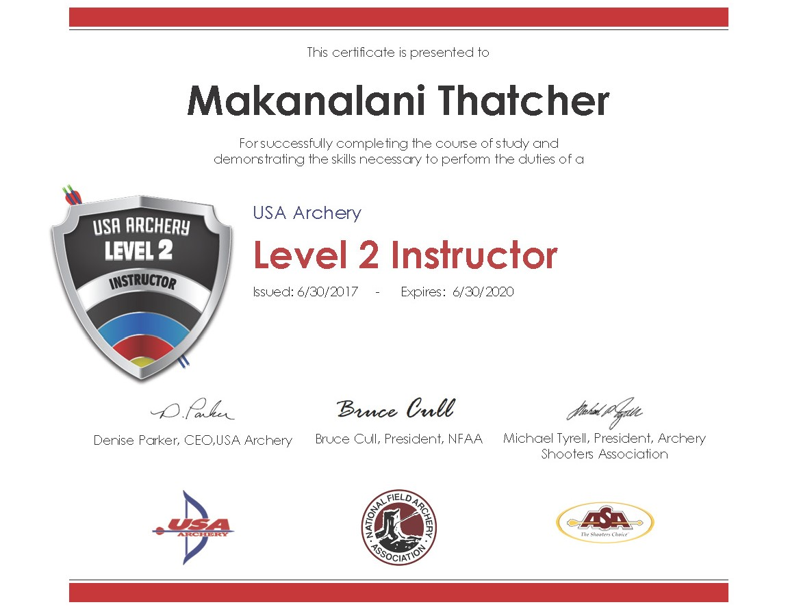 Level 2 Instructor Certificate 20170630